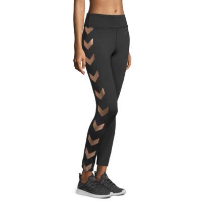 Xersion Metallic Chevron Legging Pattern Knit Leggings
