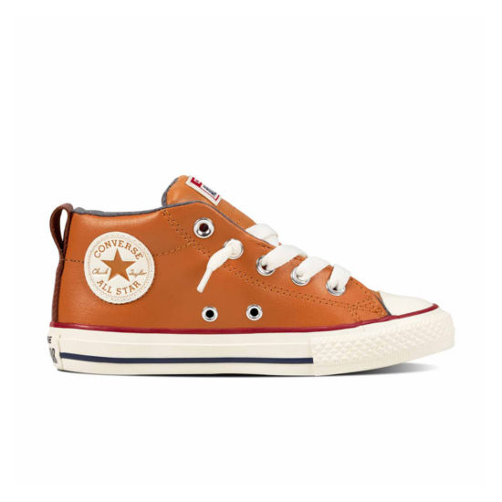 Converse Chuck Taylor All Star Street  Leather And Fleece Mid Boys Sneakers - Little Kids/Big Kids