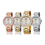 Burgi Womens Two Tone Stainless Steel Strap Watch-B-084ttg