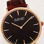 August Steiner Womens Brown Leather Strap Watch-As-8247rgbr