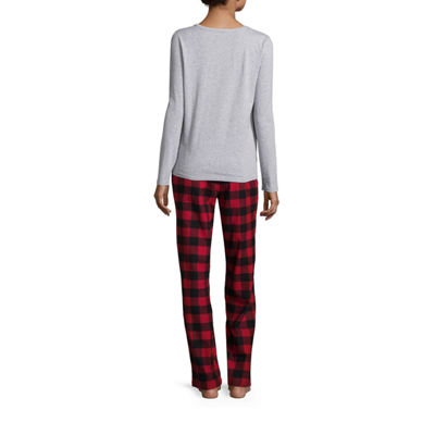 North Pole Trading Company Knit Flannel PJ Set