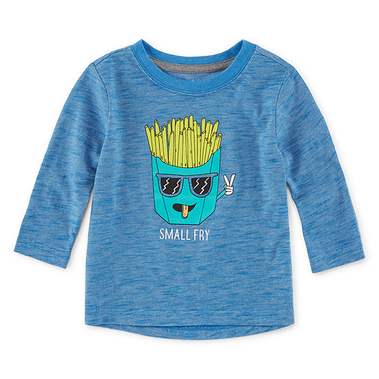 Okie Dokie Baby Boys Long Sleeve Graphic T-Shirt