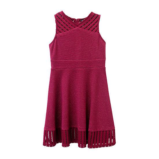Lilt Girls Sleeveless Skater Dress