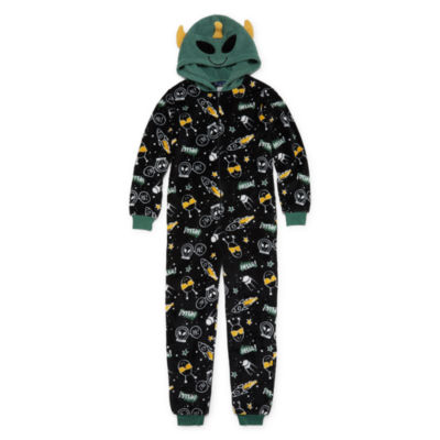 Jammers Kids Long Sleeve One Piece Pajama-Big Kid Boys
