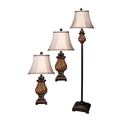 Stylecraft Toffee 3 piece. Lamp Set
