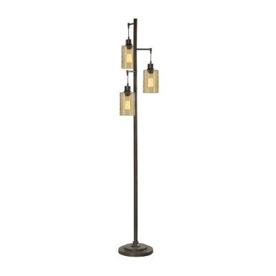 Stylecraft Bronze Metal Floor Lamp