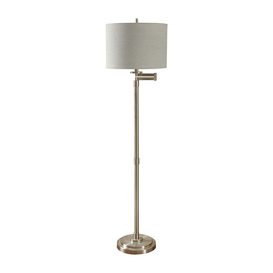 Stylecraft Brushed Metal Floor Lamp