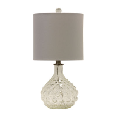Stylecraft Clear Glass Table Lamp