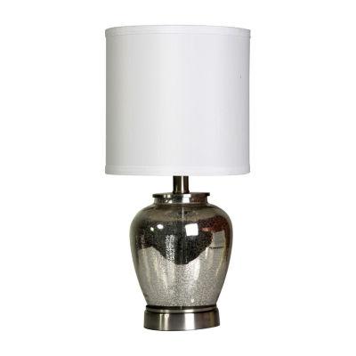 Stylecraft Gold Mercury Glass W/ Silver Metal Table Lamp
