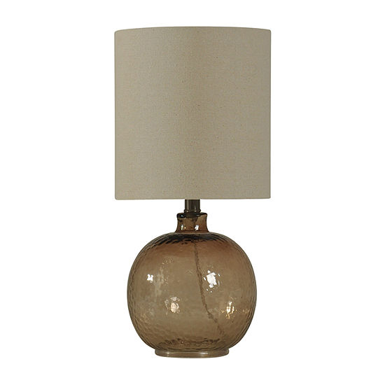 Stylecraft Amber Mist Glass Table Lamp
