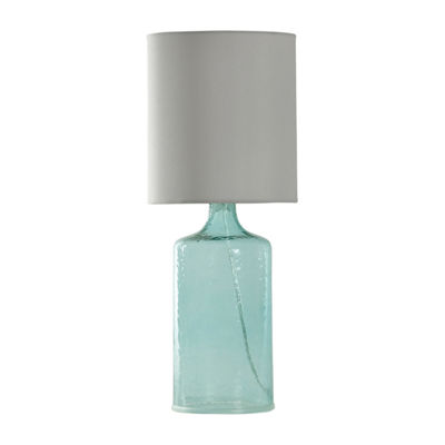 Stylecraft Aqua Glass Table Lamp Jcpenney