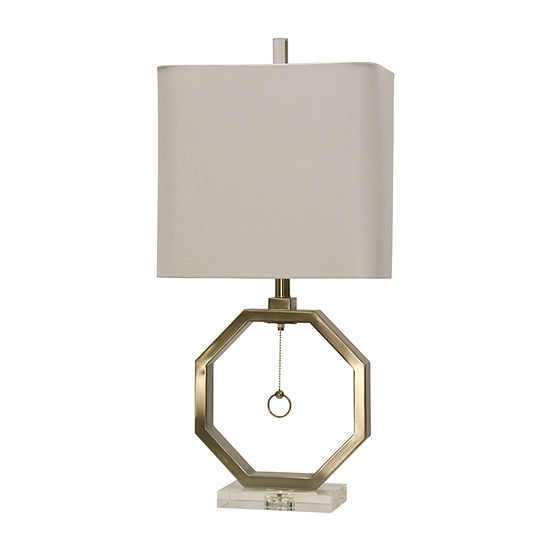 Stylecraft Brushed Metal Table Lamp