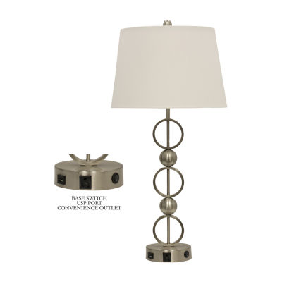 Stylecraft Brushed Steel Metal Table Lamp
