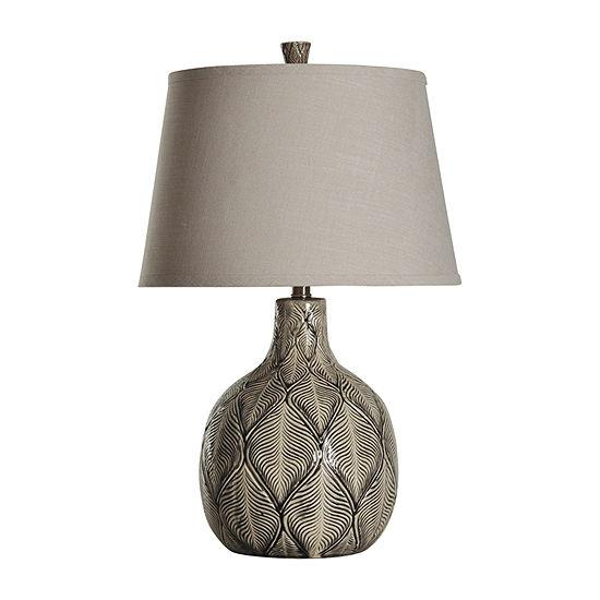 Stylecraft Dothan Leaves Ceramic Table Lamp