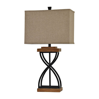 Stylecraft Wood Metal Table Lamp