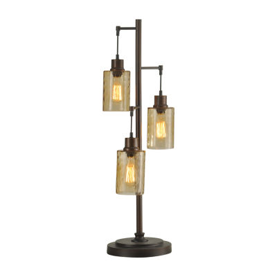 Stylecraft Dimpled Metal Table Lamp