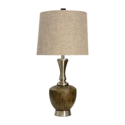 Stylecraft Brushed Metal Table Lamp