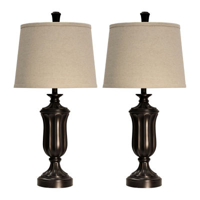 Stylecraft Wood 2-pc. Lamp Set