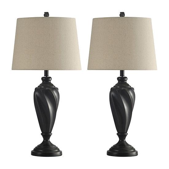 Stylecraft Wood 2-pc. Lamp Set