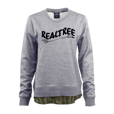 Realtree Crewneck Fleece Womens U Neck Long Sleeve Sweatshirt