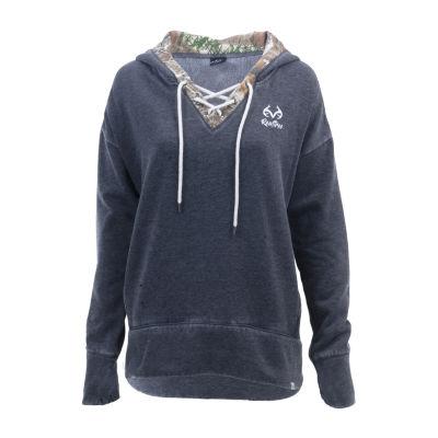 Realtree Renue Lace Up Ss Long Sleeve Sweatshirt