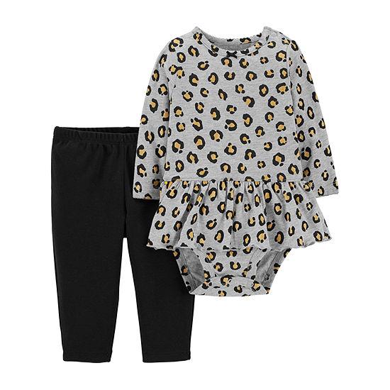 Carters 2 Pc Bodysuit Set Baby Girls