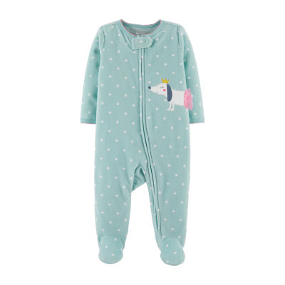 Carter's Zip-Up Fleece Sleep and Play - Baby Girl