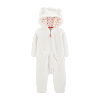 Carter's Hooded Sherpa Jumpsuit - Baby Girl