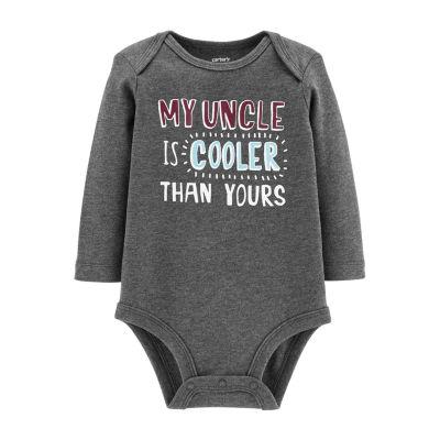 Carter's Slogan Long Sleeve Bodysuit - Baby Boy