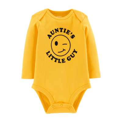 Carter's Slogan Long Sleeve Bodysuits - Baby Boy Nb-24m Bodysuit - Baby