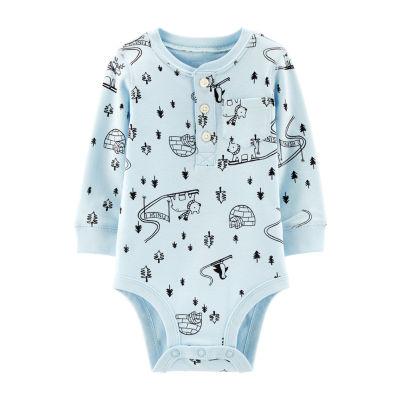 Carter's Slogan Long Sleeve Nb-24m Bodysuit - Baby Boy