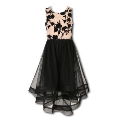 Speechless Embellished Sleeveless Fit & Flare Dress - Big Kid Girls