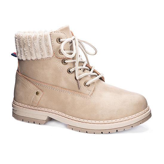CL by Laundry Womens Alps-001 Nubuck/Fleece Flat Heel Booties