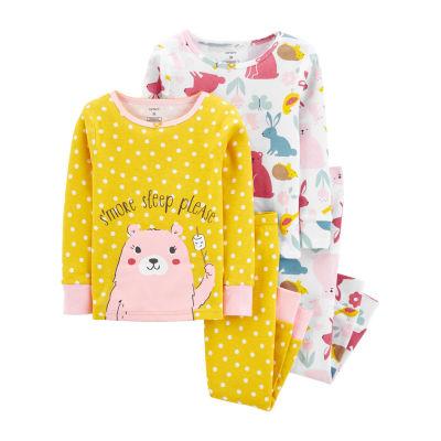 Carter's Baby Girls 4-pc. Pajama Set
