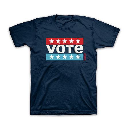 Levi's Vote Mens Crew Neck Short Sleeve Americana Graphic T-Shirt, Xx-large , Blue