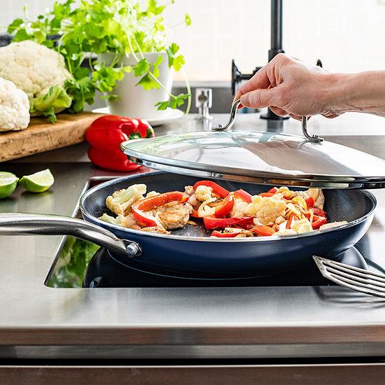As Seen On TV Blue Diamond Aluminum Non-Stick Frying Pan