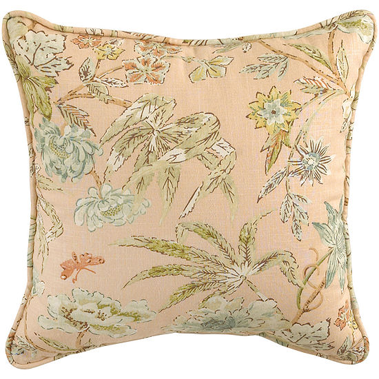 Waverly® Cape Coral Quilted Square Decorative Pillow