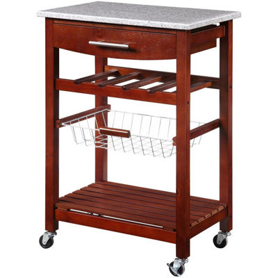 Granite-Top Kitchen Cart