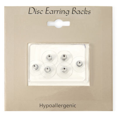 Sensitive Ears Silver-Tone 6-pk. Replacement Disc Earring Backs