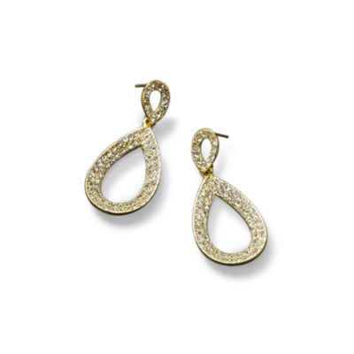 Natasha Pavé Rhinestone Teardrop Earrings