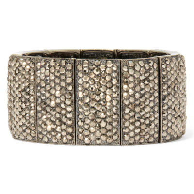 Natasha Crystal Hematite Stretch Bracelet