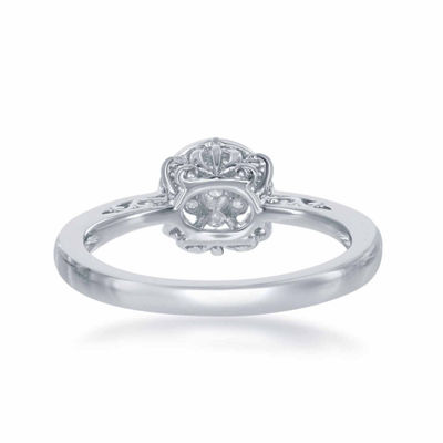 "Enchanted Disney Fine Jewelry 1/4 C.T. T.W. Diamond 10K White Gold ""Cinderella"" Carriage Ring"
