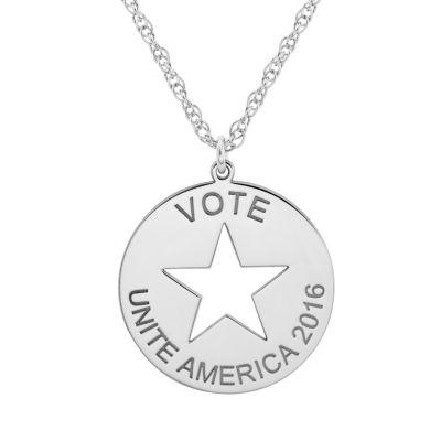 Political Logo Pendant Necklace