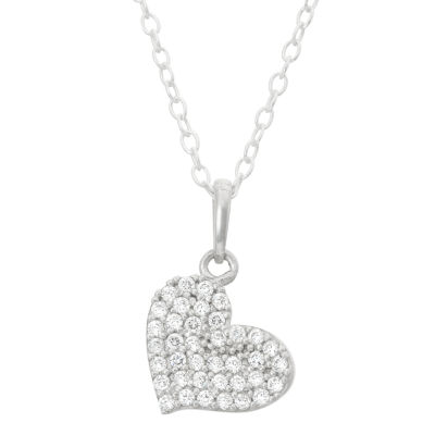 Children's Sterling Silver Heart Pendant Necklace
