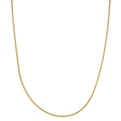 Children's 14K Yellow Gold over Silver Wheat Chain Necklace
