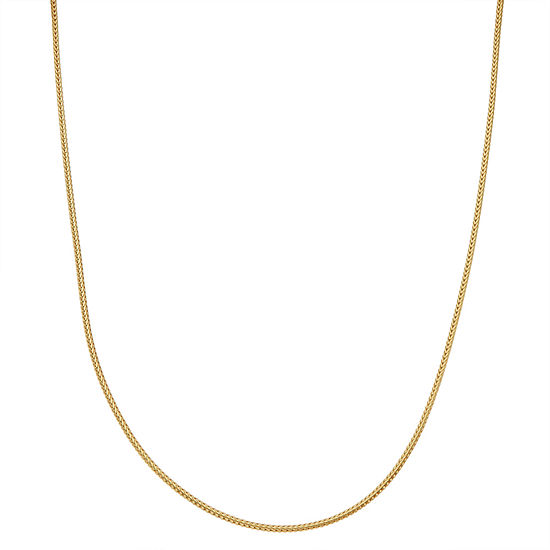 Childrens 14k Yellow Gold Over Silver Wheat Chain Necklace