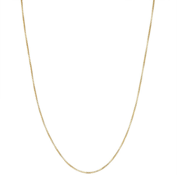Children's 14K Yellow Gold over Silver Box Chain Necklace