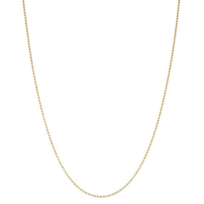 Children's 14K Yellow Gold over Silver Bead Chain Necklace