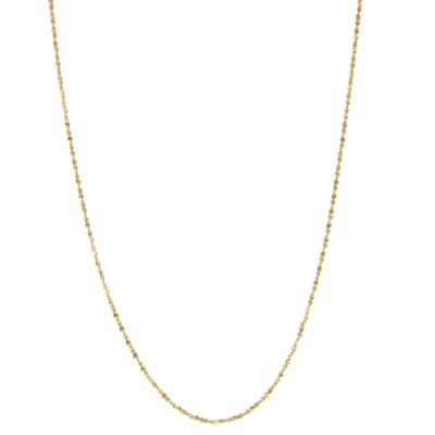 14K Gold Over Silver 15 Inch Chain Necklace