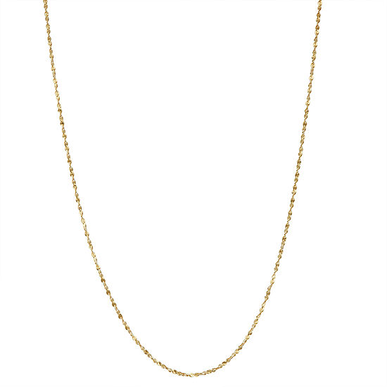14k Gold Over Silver 15 Inch Solid Chain Necklace